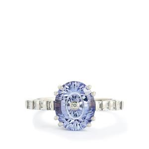 Lehrer TorusRing Tanzanite & Diamond 18k White Gold Ring MTGW 3.07cts