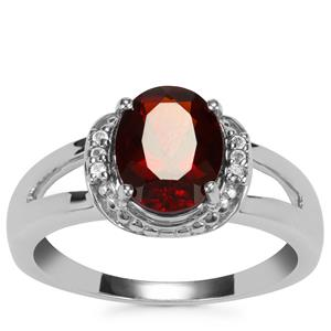 Madeira Citrine Ring with White Topaz in Sterling Silver 1.54cts