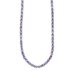 Tanzanite Necklace in 10k Gold 27.98cts