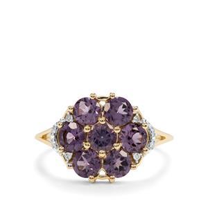 Mahenge Purple Spinel & Diamond 10K Gold Ring ATGW 1.88cts