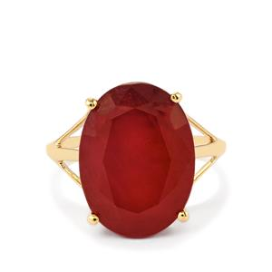 13.79ct Malagasy Ruby 10K Gold Ring (F)