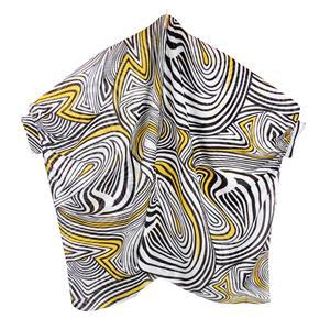 Zebra Print Destello Poncho (Black/Yellow)