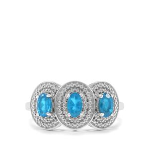 0.74ct Neon Apatite Sterling Silver Ring