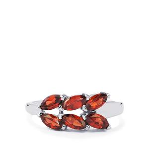 Nampula Garnet Ring in Sterling Silver 1.91cts