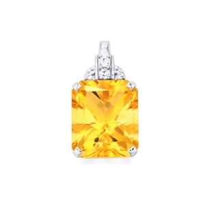 Diamantina Citrine Pendant with White Topaz in Sterling Silver 8.84cts