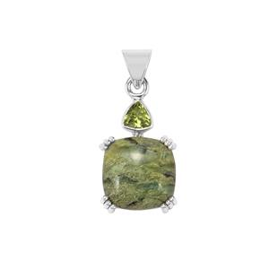 Chemin Opal Pendant with Changbai Peridot in Sterling Silver 11cts (F)