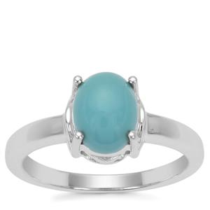 Sleeping Beauty Turquoise Ring in Sterling Silver 1.68cts