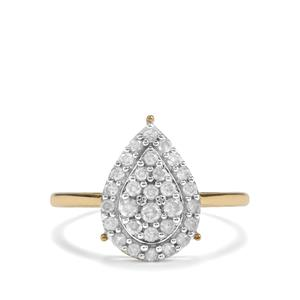 1/2ct Diamond 9K Gold Diamantaire Ring