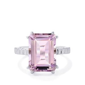 8.50ct Rose De France Amethyst Sterling Silver Ring