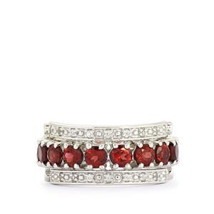 Ratanakiri Zircon, Rhodolite Garnet & White Topaz Sterling Silver Reversible Ring ATGW 6.00cts