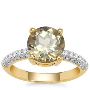 Csarite® Ring with Diamond in 18K Gold 3.42cts