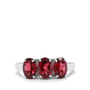 2.75ct Rajasthan Garnet Sterling Silver Ring