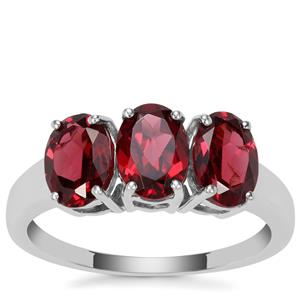 Rajasthan Garnet Ring in Sterling Silver 2.75cts
