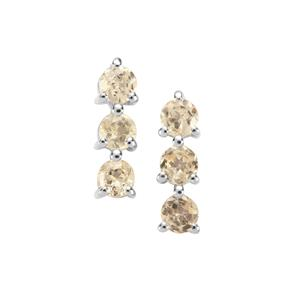 Ouro Preto Imperial Topaz Earrings in Sterling Silver 0.55ct