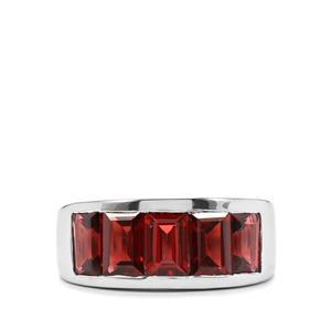 3.58ct Octavian Garnet Sterling Silver Ring