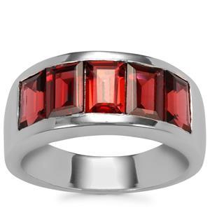 Octavian Garnet Ring in Sterling Silver 3.58cts