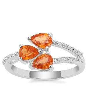 Mandarin Garnet Ring in Sterling Silver 1.64cts