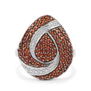 0.97ct Anthill Garnet Sterling Silver Ring