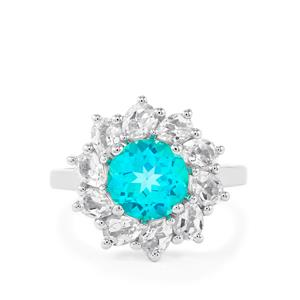 Batalha Topaz Ring with White Topaz in Sterling Silver 4.45cts
