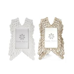 Gem Auras Angel Wings Frame - Available in White 01 or Silver 02