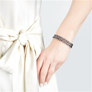 Black Spinel Bracelet in Sterling Silver 11.97cts