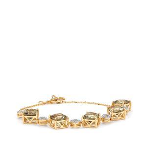 Csarite® & Diamond 18K Gold Lorique Bracelet MTGW 12.89cts