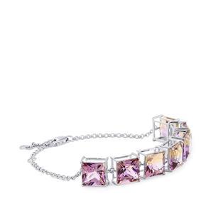 24.21ct Anahi Ametrine Platinum Plated Sterling Silver Bracelet