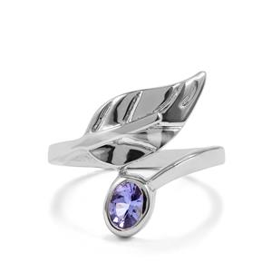 0.45ct AA Tanzanite Sterling Silver Ring