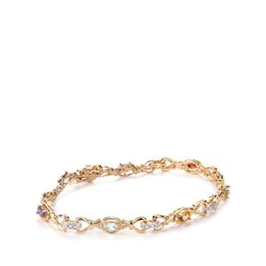 Kaleidoscope Gemstones Sterling Silver Bracelet ATGW 1.11cts