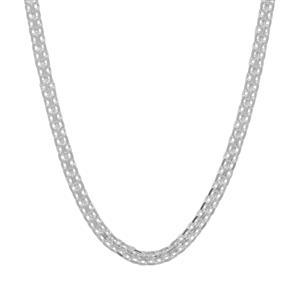 "22"" Sterling Silver Dettaglio Diamond Cut Bismark Chain 3.90g"