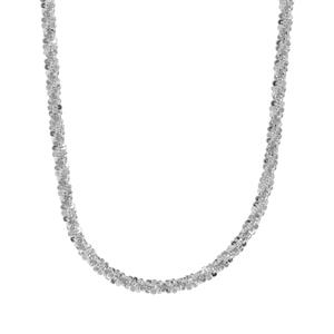 """24"""" Sterling Silver Couture Slider Criss Cross Chain 4.71g"""
