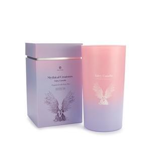 Gem Auras Fairy Candle with a Fairy Floss Fragrance and Mystic Quartz Gemstone AGTW 3.5cts