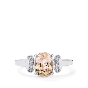 Mawi Kunzite Ring with Diamond in Sterling Silver 2.34cts