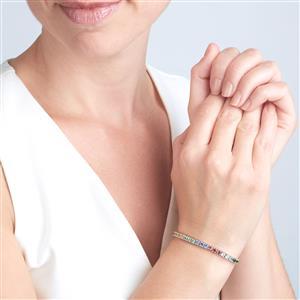 Kaleidoscope Gemstones slider Bracelet in Sterling Silver 3.04cts