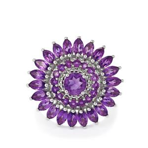 4.62ct Amethyst Sterling Silver Ring