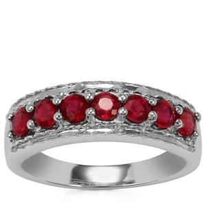 Malagasy Ruby Ring in Sterling Silver 1.19cts (F)
