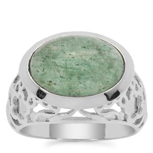 Kiwi Quartz Ring in Sterling Silver 6cts