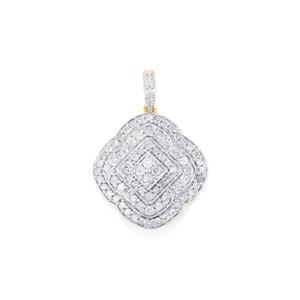 Diamond Pendant in 14k Gold 1ct