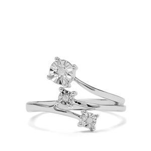 Diamond Sterling Silver Halo Diamonds Ring