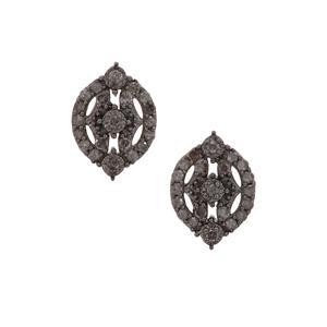 1/2ct Grey Diamond Sterling Silver Earrings