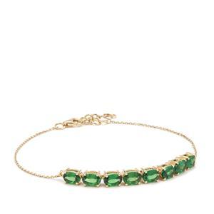 Tsavorite Garnet Bracelet in 9K Gold 3.40cts