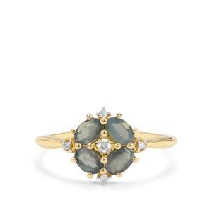 Orissa Alexandrite & Diamond 9K Gold Ring ATGW 0.83ct