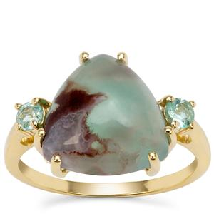 Aquaprase™ Ring with Aquaiba™ Beryl in 9K Gold 5.05cts