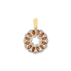 Bekily Colour Change Garnet Pendant with Diamond in 9K Gold 2.51cts