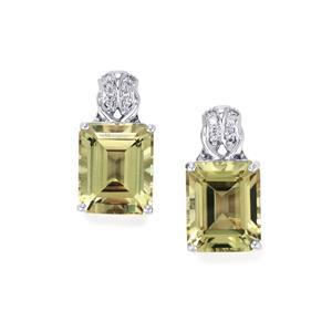 Csarite® & Diamond 18K White Gold Lorique Earrings MTGW 10.38cts