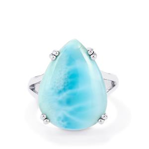 Larimar Ring in Sterling Silver 14.87cts