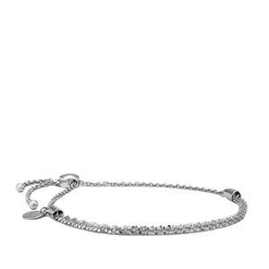 """10"""" Sterling Silver Altro Criss Cross Slider Bracelet 4.76g"""