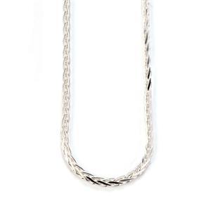 """20"""" Sterling Silver Dettaglio Diamond Cut Spiga Chain 11g"""