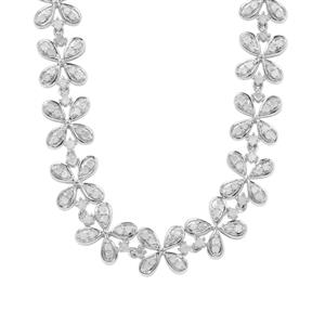 Diamond Necklace in Sterling Silver 4ct