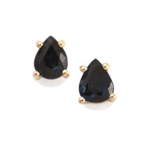 0.80ct Australian Blue Sapphire 10K Gold Earrings